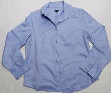 WOMENS blue striped SHIRT TOP BLOUSE = TALBOTS = SIZE 16 = (gz31)