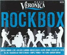 5 CD - RADIO VERONICA ROCK BOX - QUEEN ANOUK CURE RADIOHEAD COLDPLAY TOTO BOWIE