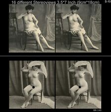 16 artful Stereoviews french Nude 1910 France - Paris (Lot 10)