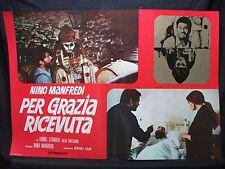 FOTOBUSTA CINEMA - PER GRAZIA RICEVUTA - NINO MANFREDI - 1970 - DRAMMATICO - 03