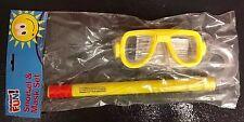 Kids Snorkel and Mask set Boys / Girls - Yellow. UK STOCK