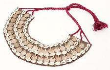 OLD RARE VINTAGE COINS BANJARA KUCHI COWRIES TRIBAL GYPSY BELLYDANCE NECKLACE