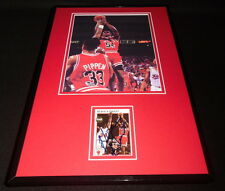 Horace Grant Signed Framed 11x17 Photo Display Bulls w/ Scottie Pippen