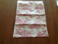 "Laura Ashley Toile de Jouy Rasp Table Runner 58"" x 12.5"" Linen Fully Lined. New"