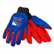 New York Rangers Gloves Sports Logo Utility Work Garden NEW Colored Palm