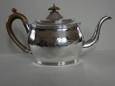 GEORGE III SOLID STERLING SILVER TEAPOT - LONDON 1803 - 370g