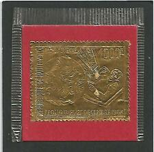 Haute Volta 1969 Space Weltraumfahrt Apollo 8 embossed stamp on Gold foil MNH