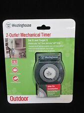 Westinghouse 2-Outlet Mechanical Timer Outdoor Christmas Lights Decor