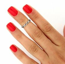 Sterling Silver Celtic Knot knuckle ring midi ring adjustable knuckle ring (T73)