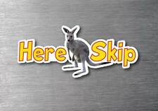 Here Skip sticker quality 7yr vinyl water & fade proof kangaroo aussie skippy