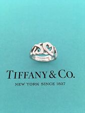 Tiffany & Co Paloma Picasso Silver Triple Loving Heart Ring Size 4.5. Retired
