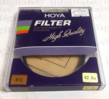 Genuine Hoya 62mm 81C 81-C 81 C Orange Glass Lens Filter 62 mm Japan OEM Genuine