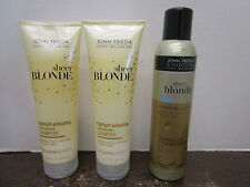 3 JOHN FRIEDA SHEER BLONDE HIGHLIGHT ACTIVATING SHAMPOO&CRYSTAL HAIRSPR  MM 7086