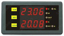 DC Programmable 0-200V 0-500A Voltage AMP Ah Power Combo Meter Battery Monitor