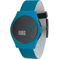 Neff Black Blue Digital LCD Quartz Wrist Watch NF0219