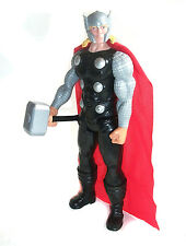 "Marvel Comics 12"" THOR  toy action figure w/ hammer, avengers unboxed"