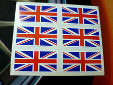 Jeu de drapeaux UNION JACK de 6 UK GB Bike casque voiture autocollants Stickers 50mm