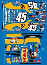 #45 Kyle Petty Garfield Dodge 2003 1/64th HO Scale Slot Car Waterslide Decals