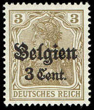 Scott # N11 - 1916 - ' Germania ', Surchd. Belgien