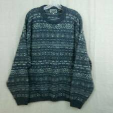 Britches of Georgetowne Charcoal Wool Nordic Crewneck Sweater Mens XL Scotland