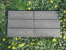 Eco friendly Composite Decking Tiles wood grain effect Sandstone or Slate Grey