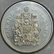CANADA 50 CENTS 2008 Logo in MS
