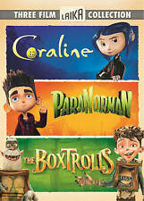 Coraline/ParaNorman/The Boxtrolls (DVD, 2015, 3-Disc Set)