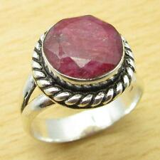 BOYS' Ring, 925 Silver Plated Beautiful RUBY SHIPPING-OFF Jewelry Size US 7 NEW