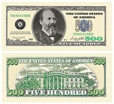 Set of 10 Bills-Five Hundred Dollar Bill by American Art Classics BRAND NEW