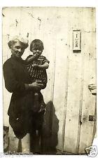 Photo ancienne portrait grand mère et son petit fils - an. 1920