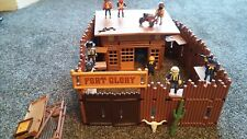 Playmobil western fort glory. 8 figures . toy set plastic