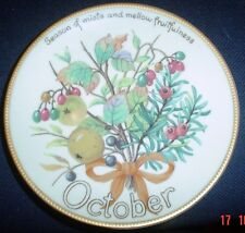 Davenport Limited Edition OCTOBER Collectors Plate Edith Holden