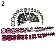72pcs Ear Stretching Kit 14G-00G Tapers Tunnels Plugs Piercing Convenient