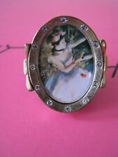 BETSEY JOHNSON SCHOOL OF DANCE HUGE BALLERINA CAMEO STATEMENT RING~RARE