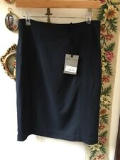 Jigsaw Navy London Stripe Wool Pencil Skirt Size 12, New With Tags