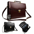 High Quality Real Leather Executive Documents Business Bag Work Briefcase Carry