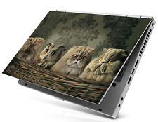 Laptop Notebook Skin Sticker Cover Decal Art Owl Cat Kitty Acer Lenovo HP 15.6""