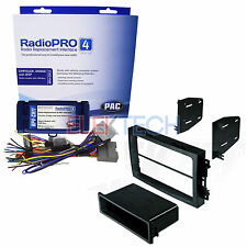 Radio Replacement & Steering Wheel Control Interface & Double DIN Dash Mount Kit
