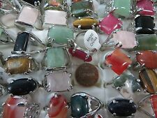 *US Seller*20 rings wholesale turquoise agate gemstone rings fashion jewelry lot