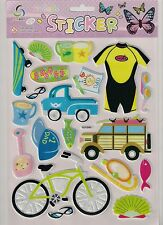 Father's Day, I love Dad, No. 1 Dad 3D stickers, scuba diving, cycling, beer