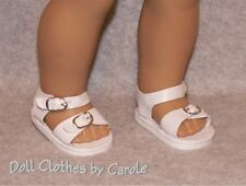 """White Salt Water Sandals fit 18"""" American Girl  Dolls - Clothes - Shoes"""