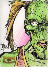 5finity Zombies vs Cheerleaders 2013 Sketch Card by Bill Maus V1