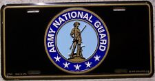 Aluminum Military License Plate Army National Guard NEW no text Made is the USA