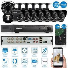 8CH 1080N/7I20P HDMI DVR 8*1500TVL n/Outdoor Camera Security Kit 1TB HDD US J7G1