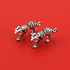 Fashion Jewelry Lady's Vintage Silver Unique Tiger Stud Earrings AA10