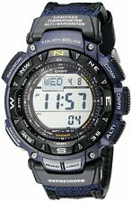 Casio Men's PAG240B-2CR Pathfinder Solar Powered Triple Sensor Blue Nylon Watch