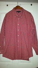 Tommy Hilfiger Red Casual Dress Shirt XL --- FREE SHIPPING!!!