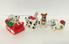 Lot of 4 Vintage Disney 101 Dalmation Toy Figurines 3 inch Collectible Toys