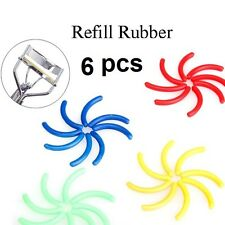 New in Pack 6Pc Eyelash Curler ReplacementRubber Refill Pads Clips - BEST PRICE