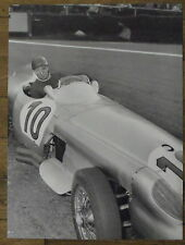 Photo Fangio,Grand Prix de Belgique,Mercedes,1955 ,  25 x 35 cm